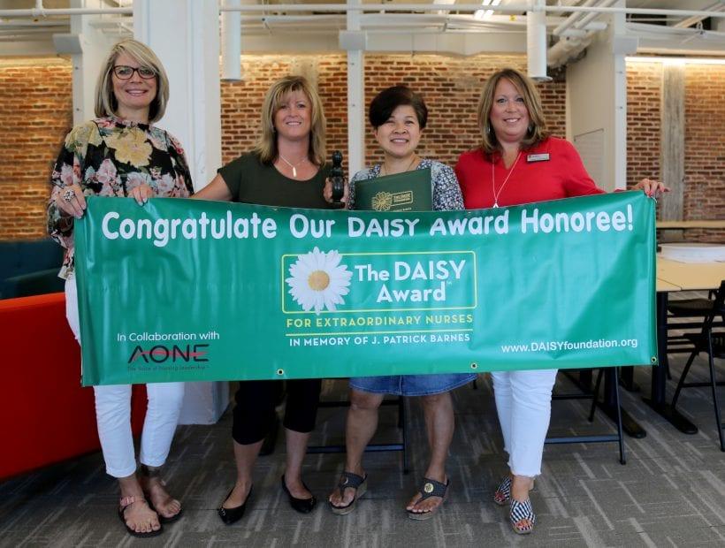 tnaa nurse receives DAISY award