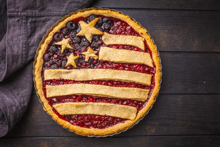 Berry pie for Fourth of July